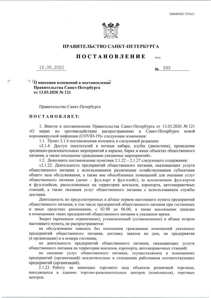 С 17 июня в Петербург возвращается серьёзный объем ограничений. Удар - по массовым мероприятиям, ТК и развлечениям